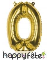Ballon en forme de chiffre doré de 36 cm, image 1