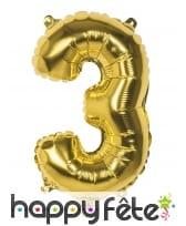 Ballon en forme de chiffre doré de 36 cm, image 4