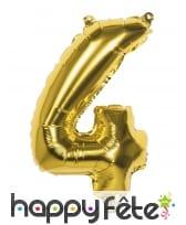 Ballon en forme de chiffre doré de 36 cm, image 5