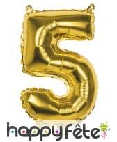Ballon en forme de chiffre doré de 36 cm, image 6