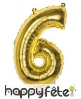 Ballon en forme de chiffre doré de 36 cm, image 7