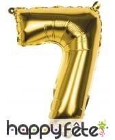 Ballon en forme de chiffre doré de 36 cm, image 8