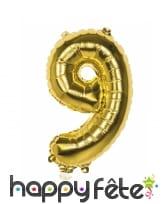 Ballon en forme de chiffre doré de 36 cm, image 9