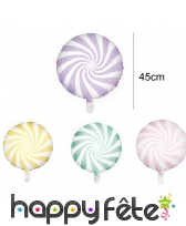 Ballon en forme de grande sucette de 45 cm