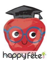 Ballon en forme de pomme diplômée, 68cm