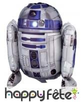 Ballon en forme de R2 D2, 86 x 96 cm