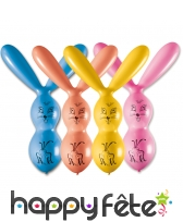 Ballons en forme de lapin