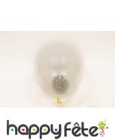 Ballons en latex transparent avec billes dorées