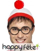 """Bonnet et lunette """"Où est charlie"""""""