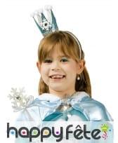 Baguette et mini couronne reine des glaces enfant