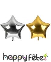 Ballon étoile métallisée de 80cm
