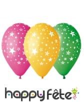 """Ballons """"étoiles"""" multicolores"""