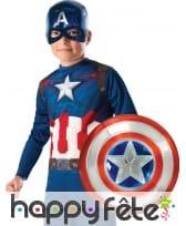 Bouclier et masque de Captain America pour enfant