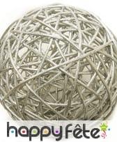Boules en osier décoratives de 6cm, image 1
