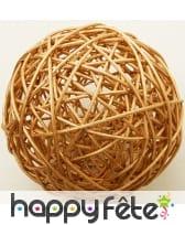 Boules en osier décoratives de 6cm, image 2