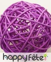 Boules en osier décoratives de 6cm, image 7