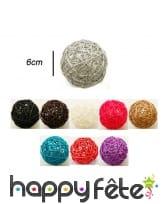 Boules en osier décoratives de 6cm