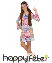 Bandeau et robe hippie à motifs pour enfant