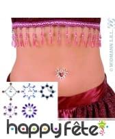 Bijoux en strass adhésif pour nombril et pendentif
