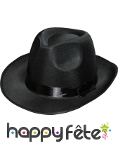 Borsalino en satin noir