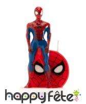 Bougie figurine de Spiderman, 6cm