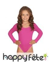 Body fuchsia manches longues pour enfant
