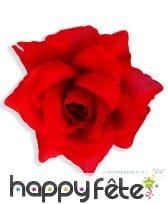 Broche fleur rouge, Rose rouge