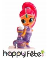 Bougie figurine Shimmer and shine rose de 7cm