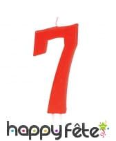 Bougie grand chiffre d'anniversaire rouge de 12cm, image 8
