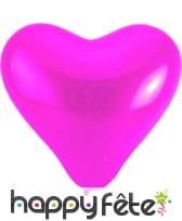 Ballon géant en forme de coeur rose