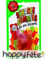 Bonbons gomme gout chili