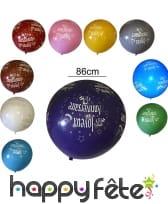 Ballons géant joyeux anniversaire