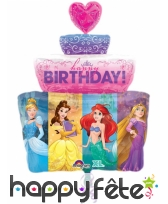 Ballon gâteau Princesses Disney de 71cm