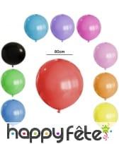 Ballon géant rond de 80cm