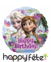 Ballon Happy Birthday XL, La Reine des Neiges