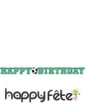 Banderole happy birthday football