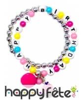 Bracelet Happy Birthday pour petite fille