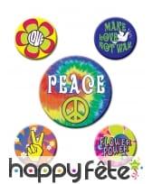 Badges hippies des années 60, par 5