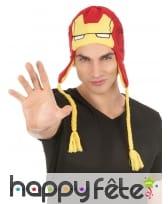 Bonnet haut de tête Iron Man, image 1