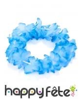 Bracelet Hawaïen de fleurs bleus