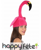 Bonnet humoristique flamant rose adulte