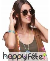 Bracelets hippie multicolores et collier, image 1