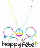Bracelets hippie multicolores et collier