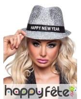 Borsalino Happy new year argenté