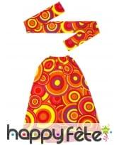 Bandeau hippie rouge avec paire de jambières, image 1