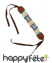 Bracelet indien avec perles bleues et rouges