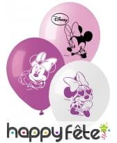 Ballons imprimés de Minnie Mouse, par 10