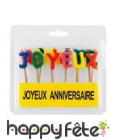 Bougies joyeux anniversaire