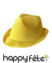 Borsalino jaune uni pour adulte