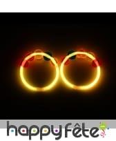 Bracelet lumineux avec perles